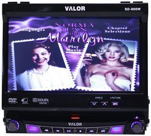 """Valor SD 900W 7"""" in Dash Touch Screen DVD Pop Out Monitor Am FM Car CD Receiver 6946299913680"""