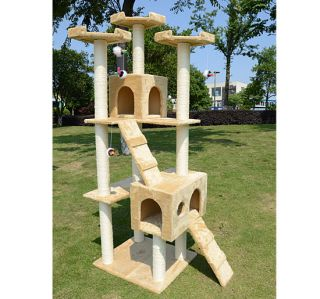 "New 72"" Cat Tree Condo Furniture Scratching Post Bed Pet Cat House w Free Toy"