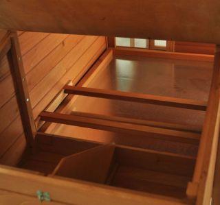 Slant Roof Wood Pet Chicken Coop Backyard Wooden Hen House Nesting Box