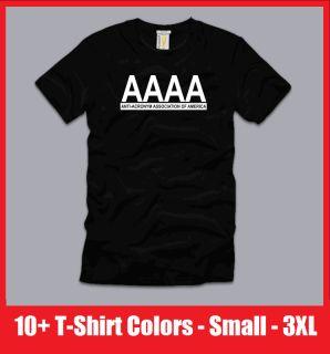 AAAA Funny T Shirt College Retro Humor Geek Cool Anti acronym s M L XL 2XL 3XL