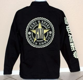 Guns N Roses GNR Heavy Metal Rock LS Army Shirt Jacket