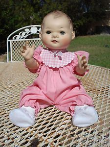 1950's American Character Baby Doll Infant Toodles w Loud Squeaker Nice