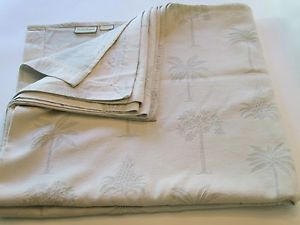 Tommy Bahama Etched Palm Tree Tropical Bedspread Coverlet King Bone Neutral