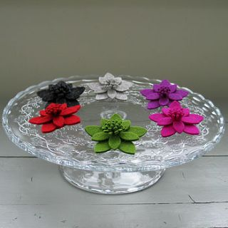 wool felt lily brooch by donna smith designs