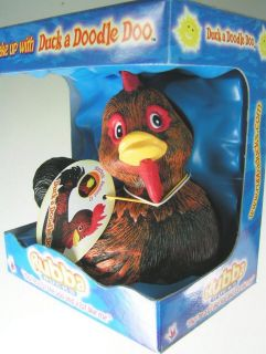 Rooster Duck A Doodle Doo Rubba Rubber Chicken Hen Eggs