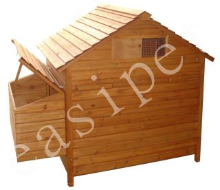 XL Chicken Coop Hen House Wooden Poultry Wood Coup Ark Nesting Box Easipet 361