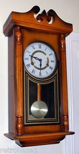 Pendulum Wall Clocks Winding Chime Wood 31 Day Clock