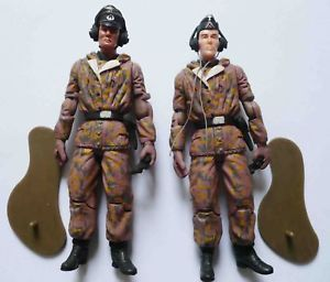 2 Germany WWII Commander Soldier Action Figure RARE D4