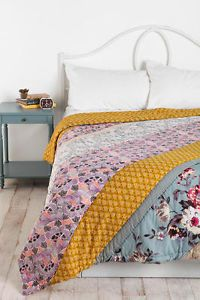 Urban Outfitters Plum and Bow Blossom Patchwork Full Queen Quilt Bedding