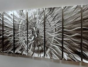 "Modern Abstract Metal Wall Art Decor Sculpture ""Eye of The Storm"" by Jon Allen"