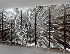 """Modern Abstract Metal Wall Art Decor Sculpture """"Eye of The Storm"""" by Jon Allen"""