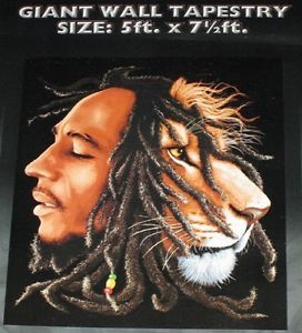 New Giant Bob Marley Lion Head Tapestry 60x90 NIP Wall Hanging Decor 60x90 Rasta