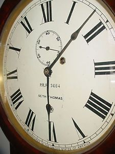 Seth Thomas 2 Regulator Wall Clock PRR 3664 Pennsylvania Railroad Antique Clock