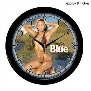 Labatt Beer Sexy Girl Bikini Wall Clock