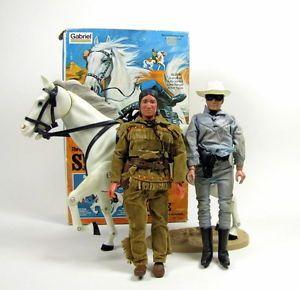 Vintage 1973 Gabriel The Lone Ranger Tonto Action Figures Horse Silver Box