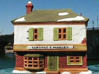 Scrooge Marley Counting House 1986 Department Dept 56 Dickens Village D56