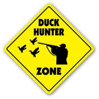 Duck Hunter Zone Sign Xing Gift Novelty Hunt Gun Shoot Dog Rifle