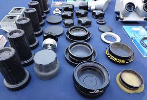 Zeiss Surgical Microscope Parts Accessories Lot Wild Heerbrugg Xomed 38 PC