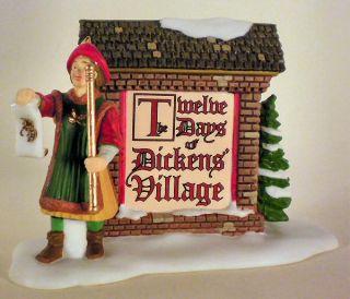12 Days of Dickens Village Sign New Department Dept 56 DV D56