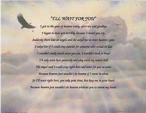 Dog Died I Wait 4 U Poem Personalized Name Eagle Print