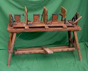 Antique Farm Champion Egg Case Machine for Making Wood Egg Crates