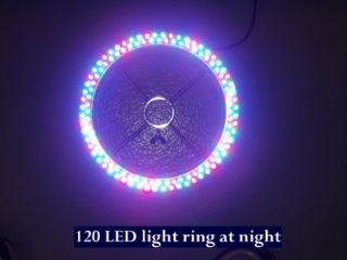 120 LED Fountain Light Ring Multi Colored Large Pond Garden Water Red Blue White