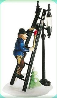 Lamplighter with Lamp New Department Dept 56 Dickens Village DV