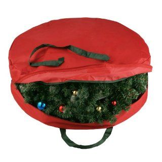 Durable Canvas Holiday Christmas Wreath Protection Storage Bag for 30  Wreaths ...  sc 1 st  PopScreen & Christmas Wreath/ Garland Storage Bag