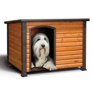 Extreme Outback Large Outdoor All Weather Durable Pet Kennel Log Cabin Dog House