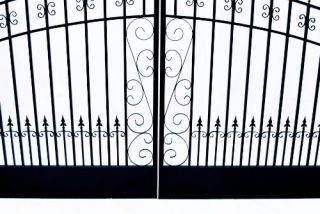 Venice Style Iron Wrought Aleko Gate 18' High Quality Driveway Gates Ornamental