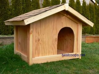 Small Gable Roof Dog House Plan