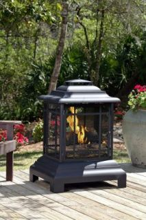 02679 Fire Sense Outdoor Real Wood Burning Patio Deck Fireplace Woodburning New