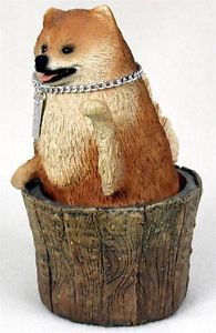Pomeranian Statue Figurine Home Garden Decor Dog Products Dog Gifts