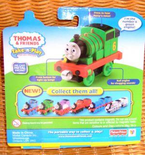 Fisher Price Talking Percy Thomas Tank Engine Die Cast Train Take N Play