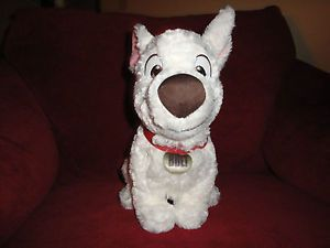 "Disney Bolt Dog 12"" Tall Soft Toy Plush Stuffed Animal"