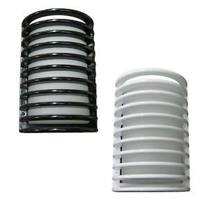 Cast Aluminum Bulk Head Black or White Exterior Interior Wall Light Your Choice