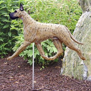 Great Dane Dog Figure Garden Stake Home Yard Garden Dog Products Gifts