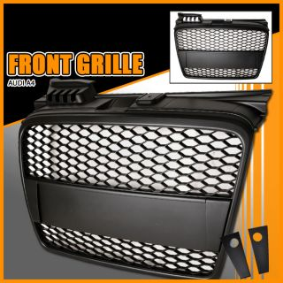 06 07 08 Audi A4 B7 Mesh Front Hood Grille Grill Black