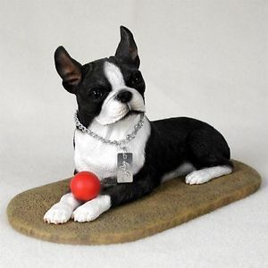 Boston Terrier Statue Figurine Home Decor Yard Garden Dog Products Dog Gifts