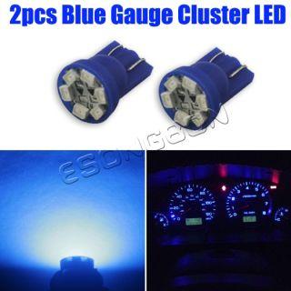 2X Ultra Blue T10 Wedge Gauge Cluster Instrumental Speedometer LED Light Bulb