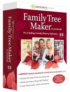 Family Tree Maker 2014 Platinum 6 Months Premium Membership Ancestry Co UK New