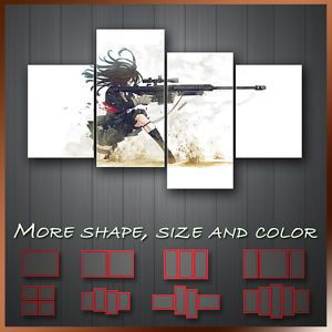 Big Gun Girl Manga Anime Japanese Cartoon Wall Art Box Canvas More Size Color