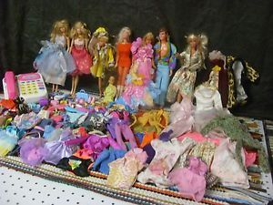 Vintage Barbie Doll Lot 2 Items Clothes Shoes Accessories Answering Machine