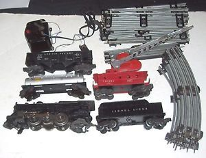 Vintage Complete Lionel 1950s O Gauge Heavy Cast Steam Locomotive Train Set