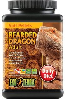 Exo Terra Bearded Dragon Adult Soft Pellet Diet Food 250g 540G Reptile Granules