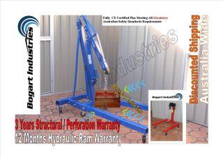 Engine Hoist Lifter Folding Shop Crane 2 Ton Quality 565kg Engine Stand