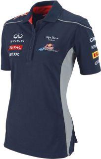 Authentic Infiniti Red Bull Racing F1 Team 2013 Lady Polo Shirt Sebastien Vettel