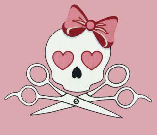 Brand New Novelty Pink Skull Heart Bow Designer Apron Cooking Bib Waterproof