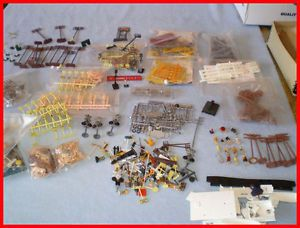 Mixed Lot Model Railroad Scenery Accessories HO Scale People Animals Fences Boat