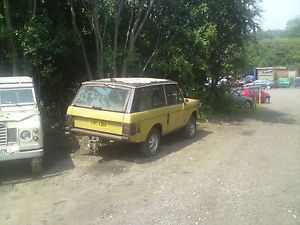 Range Rover Classic 2 Door 1974 No Engine Chassis Up Rebuild 7 Years Ago Stood